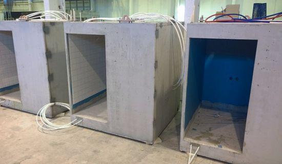 Kylpyhuoneet tehdään sisällä kuivissa tehdasolosuhteissa